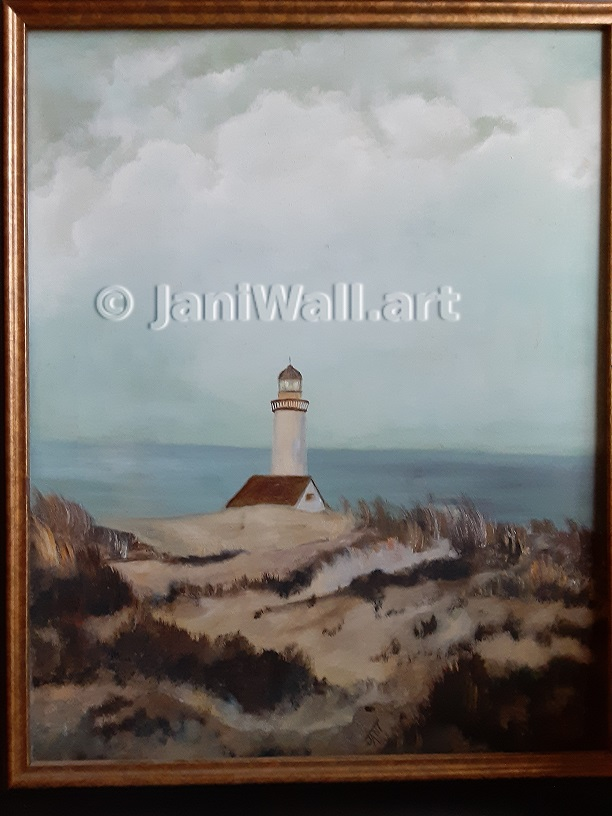 "Lighthouse <br> 16"" X 20""  <br> <font color = yellow> Original</font> <br><font color=lightgreen> $ 450.00<br><font color = yellow>"